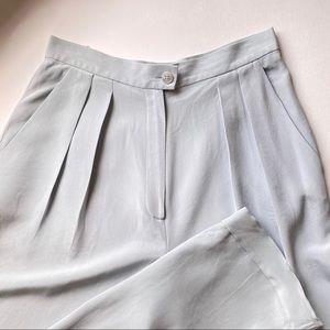 Vintage 100% Silk High Rise Trouser
